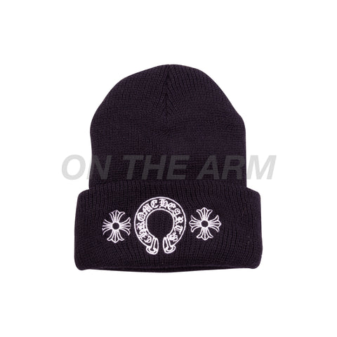 Chrome Hearts Black Horseshoe Beanie