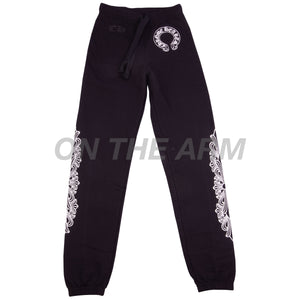 Chrome Hearts Black Floral Sweats