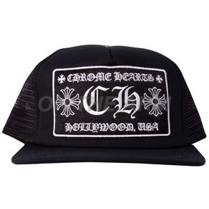 Chrome Hearts Black Trucker Hat