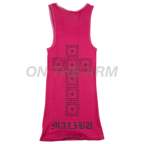 Chrome Hearts Red Malibu Tank Top