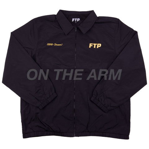 FTP Black 10 Year Anniversary Coaches Jacket