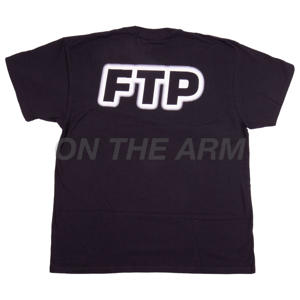 FTP Black Outer Glow Logo Tee