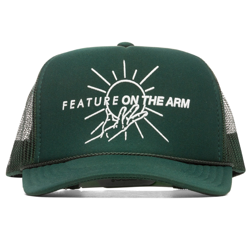 OTA x Feature Green Dual Logo Trucker Hat
