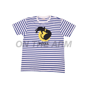 Kapital Blue Striped CATPITAL Tee