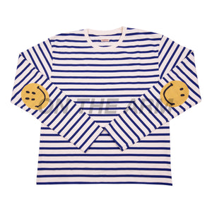 Kapital Blue Striped Smiley L/S