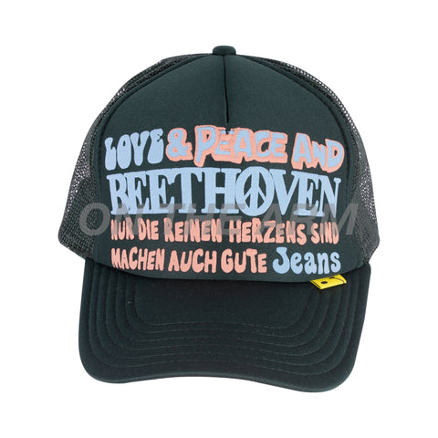 Kapital Dark Green Beethoven Trucker Hat
