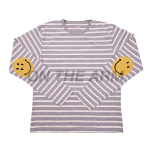 Kapital Grey Striped Smiley L/S