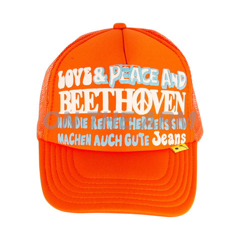 Kapital Orange Beethoven Trucker Hat