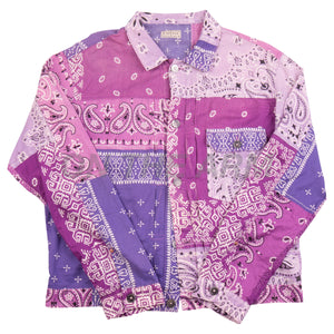 Kapital Purple Bandana Shirt USED