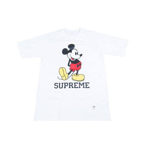 Supreme White Mickey Tee