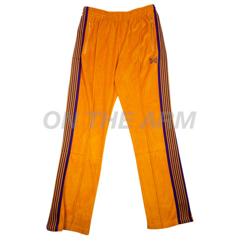 Needles Yellow/Purple Velour Narrow Track Pants