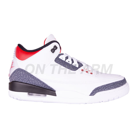 Nike Fire Red Denim Air Jordan 3