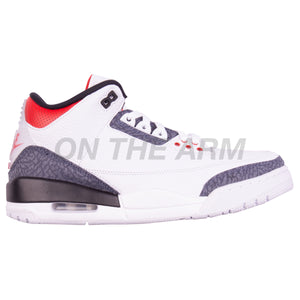 Nike Denim Fire Red Air Jordan 3 SE