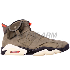 Nike Olive Travis Scott Air Jordan 6 USED