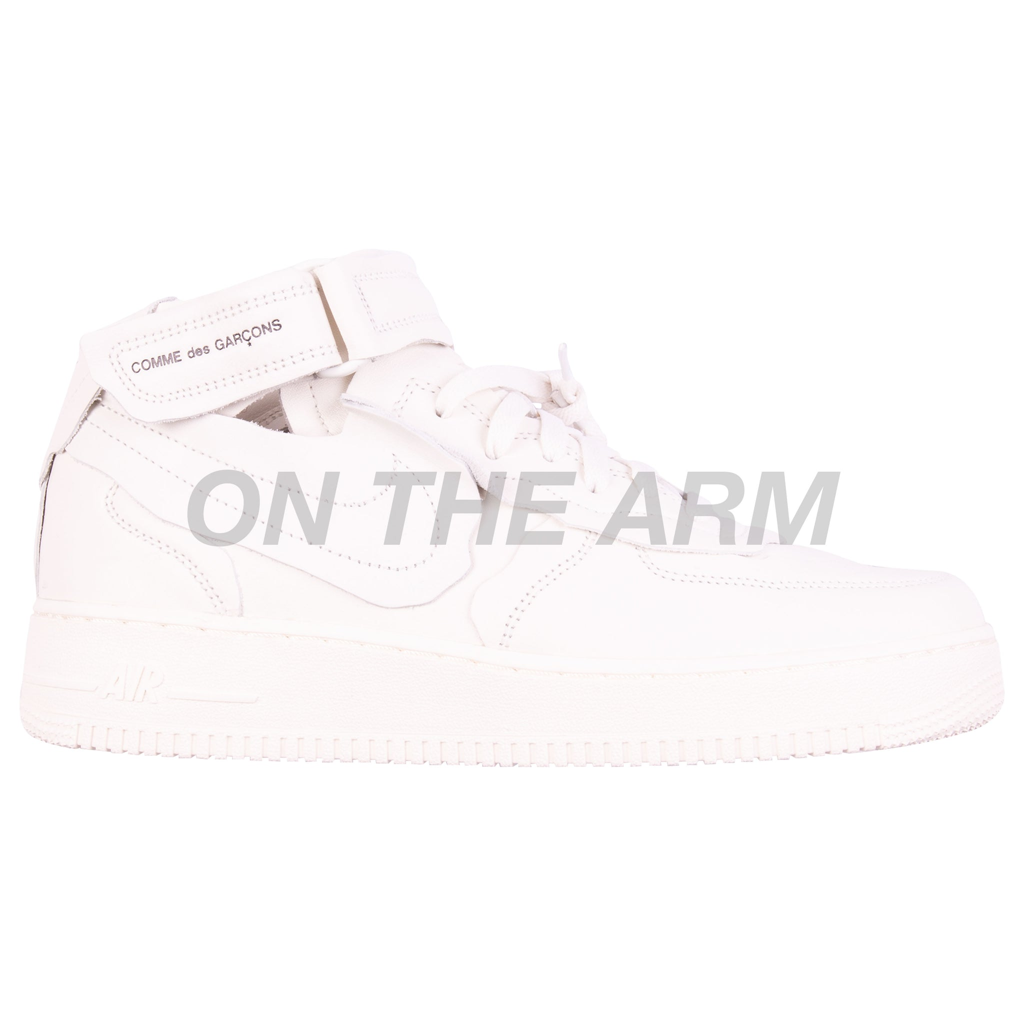 Nike White CDG Air Force 1 Mid