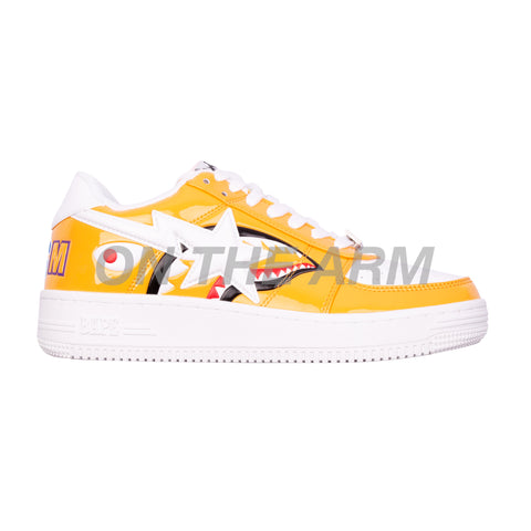 Bape Orange Shark Bapesta