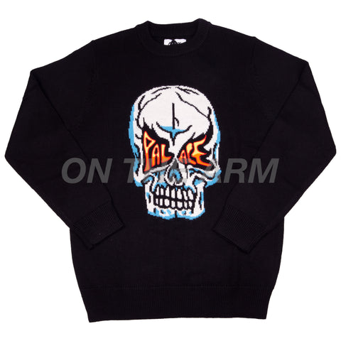 Palace Black Skull Knit