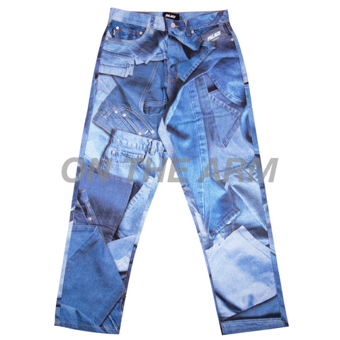 Palace Blue Double Denim Jeans