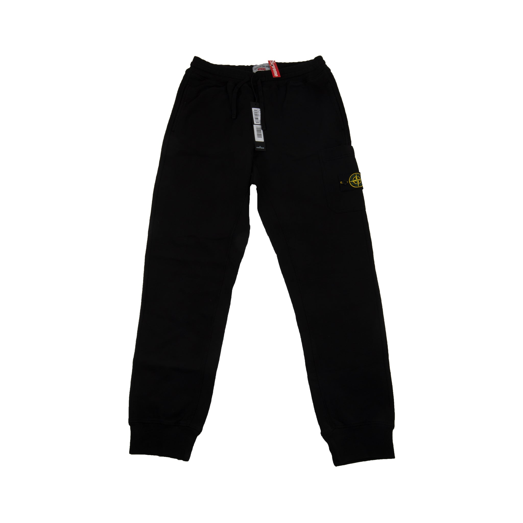 Supreme Black Stone Island Sweats