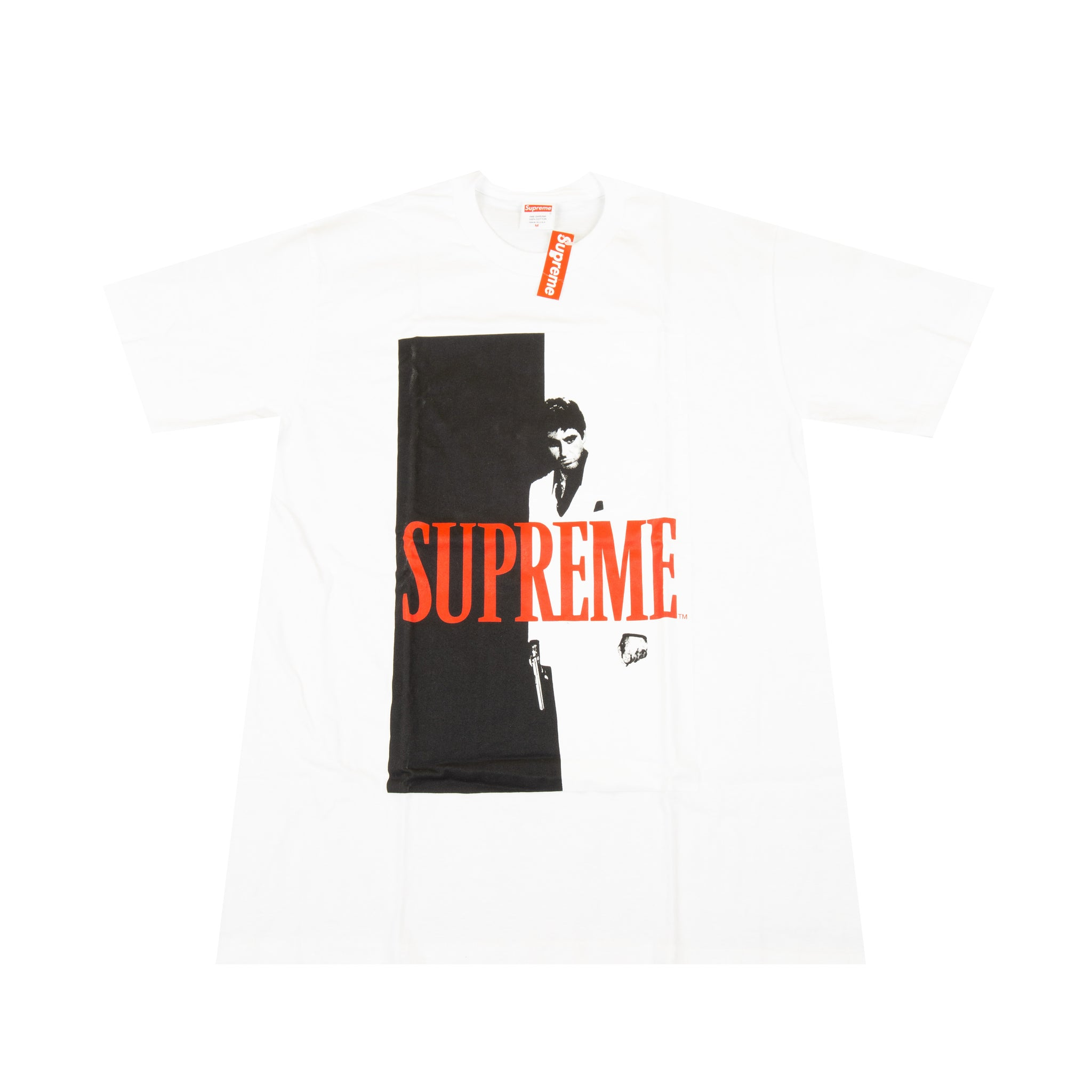 Supreme White Scarface Split Tee