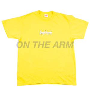 Supreme Yellow Bandana Box Logo Tee USED
