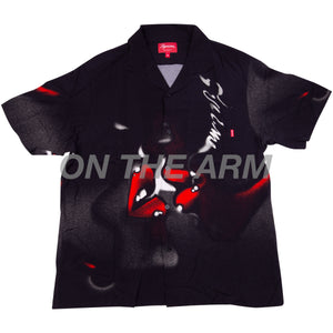 Supreme Black Blow Back Rayon Shirt