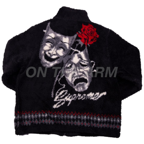 Supreme Black Drama Mask Fleece Jacket
