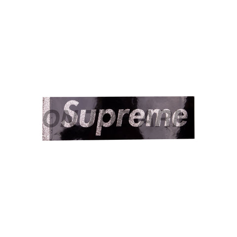 Supreme Black Glitter Box Logo Sticker