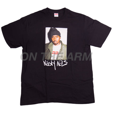 Supreme Black Nas Tee USED