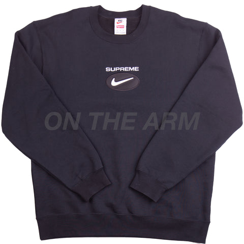 Supreme Black Nike Jewel Crew USED