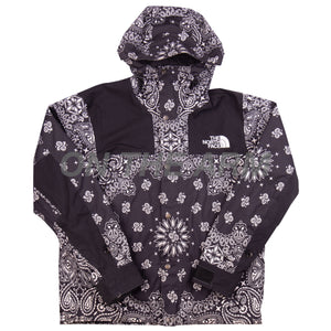 Supreme Black Paisley TNF Jacket USED