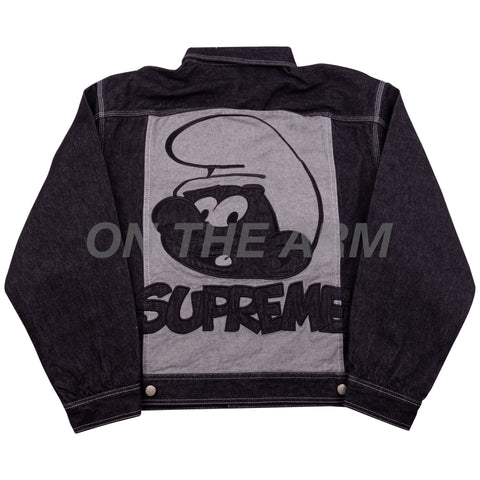Supreme Black Smurfs Denim Jacket