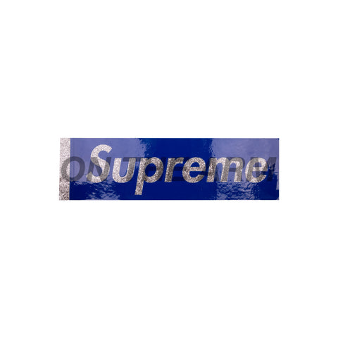 Supreme Blue Glitter Box Logo Sticker
