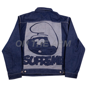 Supreme Blue Smurfs Denim Jacket