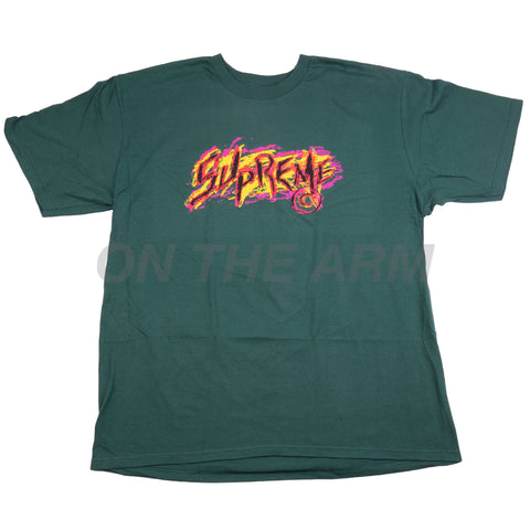 Supreme Green Scratch Tee