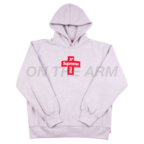 Supreme Grey Cross Box Logo Hoodie
