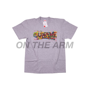 Supreme Grey Paint Logo Tee
