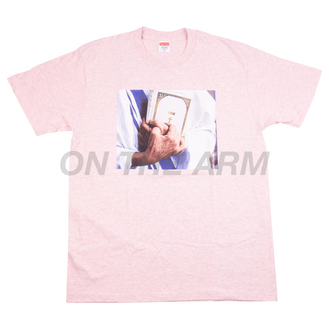 Supreme Heather Pink Bible Tee