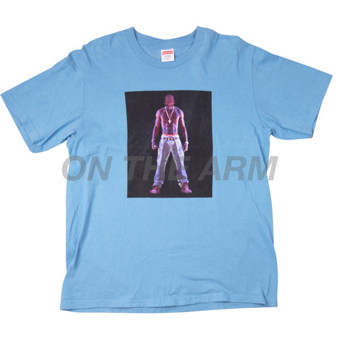 Supreme Light Slate Tupac Tee USED