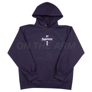 Supreme Navy Cross Box Logo Hoodie