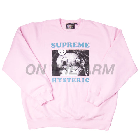 Supreme Pink Hysteric Glamour Crew