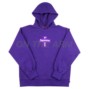 Supreme Purple Cross Box Logo Hoodie