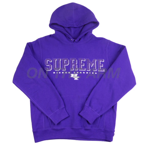 Supreme Purple Gems Hoodie USED