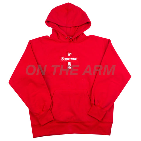 Supreme Red Cross Box Logo Hoodie