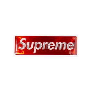 Supreme Red Raised Plastic Box Logo Sticker