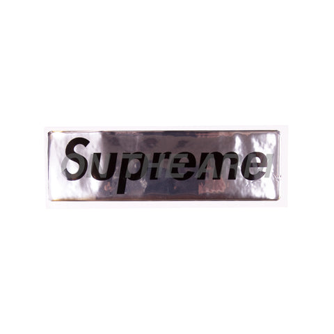 Supreme Silver Raised Plastic Box Logo Sticker