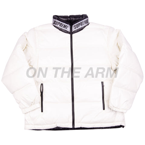 Supreme White Reversible Puffy Jacket