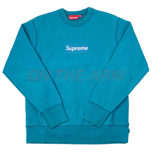 Supreme Teal/Teal Box Logo Crew (2006) USED