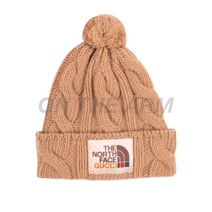 The North Face Beige Gucci Beanie
