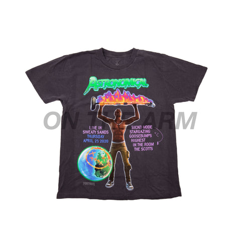 Travis Scott Graphite Back Bling Tee